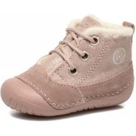 Raffy x-E Pink Suede Girl's First Boot