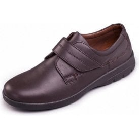 Air Brown Leather Velcro Shoe