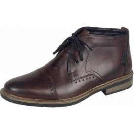 37633-25 Brown Leather Lace Up Boot