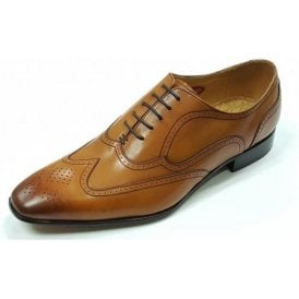 Camden Cedar Brown Leather Brogue Lace up Shoe