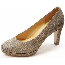 Splendid 61.270.62 Silver / Gold Glitter Court Shoe