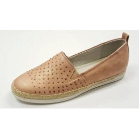 57430-77 Pink Rose Gold Slip On With Diamontes