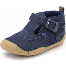 Harry Navy Nubuck Leather Boys First Shoe