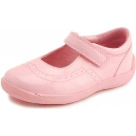 SR Supersoft Alice Pale Pink Patent Girl's Shoe