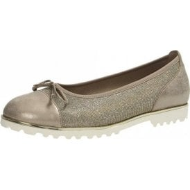Temptation 63.100.62 Platino Gold Pump with Bow