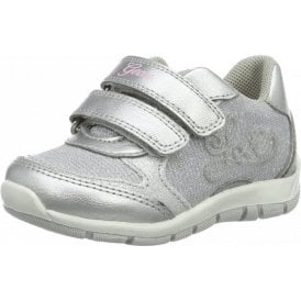 B Shaax G Light Grey / Silver Velcro Girls Shoe