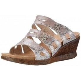 Nevis 04 Platinum / Combi Mule Sandal