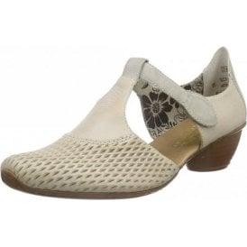 43736-40 Grey Leather Velcro Shoe