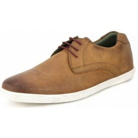 Concert Tan Waxy Leather Lace Shoe