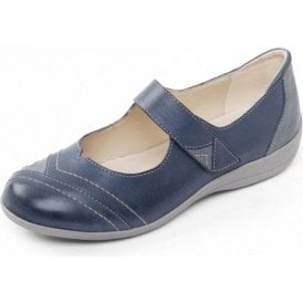 Dwell 2 Blue Combi Leather Velcro Shoe