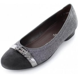 63374-29 Grey With Glitter Fabric Pump