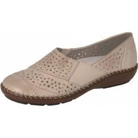 44856-60 Beige Leather Comfort Shoe