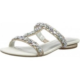 27191-20 Silver Sandal With Diamontes