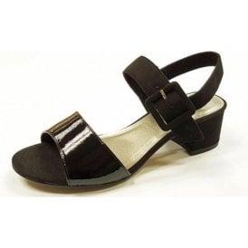 28211-28 Black Patent / Synthetic Sandal
