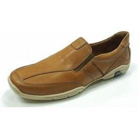 Linus 09 Camel Brown Leather Men's Shoe