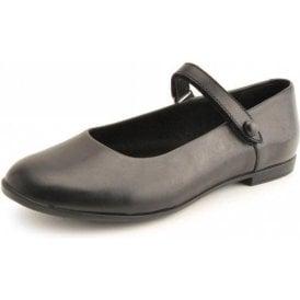 Florence Black Leather Velcro Shoe