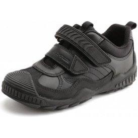 Extreme Pri Black Leather Boys Shoe