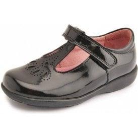 Daisy May Black Patent T-Bar Girl's Shoe