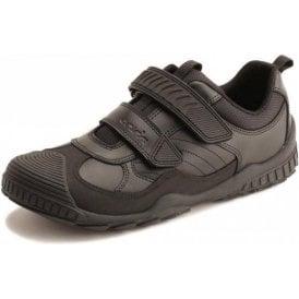 Extreme Snr Black Leather Boys Shoe