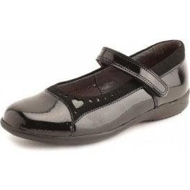 Emilia Black Patent Girl's Shoe
