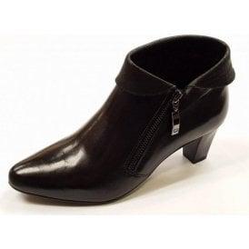 Lena 01 Black Leather Shoe Boot