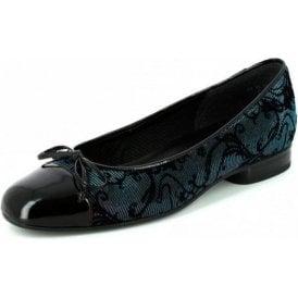 Brach 75.112.87 Black Patent / Multi Coloured Pump Shoe