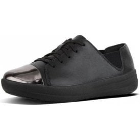 F-Sporty Mirror-Toe Lace-Up Sneakers Urban Black