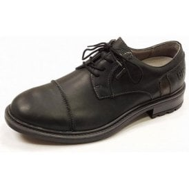 Oscar 55 Black Leather Waterproof Lace Shoe