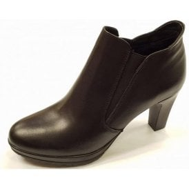 25395-21 Black Leather Shoe Boot