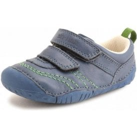 Baby Leo Blue Leather Boys First Shoe