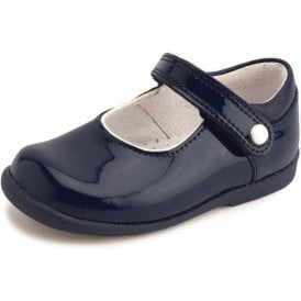 Nancy Navy Patent Girl's First Walking Shoe