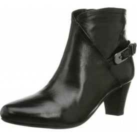 Lena 06 Black Leather Ankle Boot
