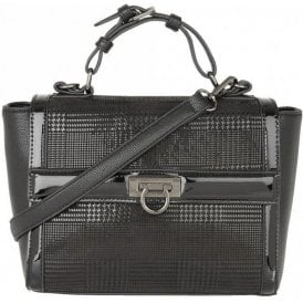 Hennie Black Print Tote Bag