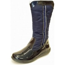 PWT 8150 Navy Patent Girl's Boots