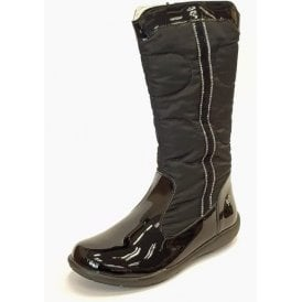 PWT 8150 Black Patent Girl's Boots