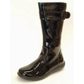 PWT 8151 Black Patent Girl's Boots