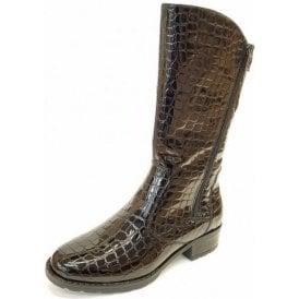 49506-95 Black Patent Croc Boot