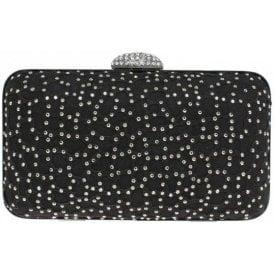 Destiny ZLR443 Black Diamante Handbag