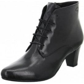 Lena 03 Black Leather Lacing Boot