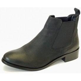 Merilee GLH492 Black Leather Ladies Chelsea Boot
