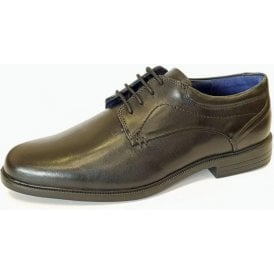 Bank Black Leather Lace Up Shoe