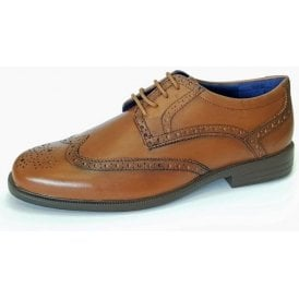 Berkeley Tan Leather Brogue Lace Up Shoe