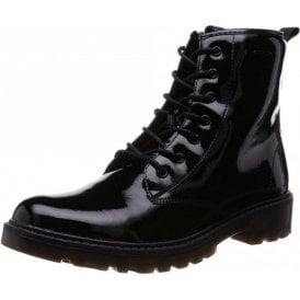 J Casey G J5420K Black Patent Girls Boot