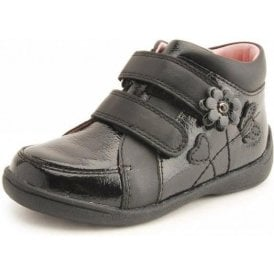SR Super Soft Lily Black Patent / Leather Girls Boot