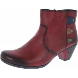 Y7273-36 Wine Multi Synthetic Ankle Boot