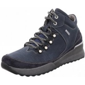 Victoria 05 Marine Navy Blue Leather Waterproof Boot