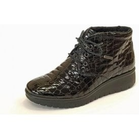 Varese N 13 Black Patent Croc Boot