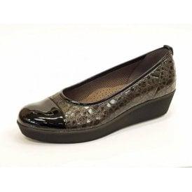 Orient 76.471.27 Black Patent / Croc Pump Shoe