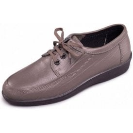 Rebel Pewter Grey Leather Lace Shoe