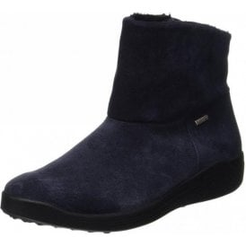 Madera 10 Jeans Navy Leather Waterproof Boot